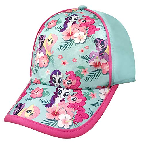 Girls Baseball Cap Pinnie, Rarity, Fluttershy, Twilight Sparkle Turquoise -