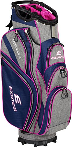 Tour Edge Male Exotics Xtreme4 Cart Bag (Men's, Exotics Ladies Extreme 4 Cart Bag Navy Scratch Plaid/Pink