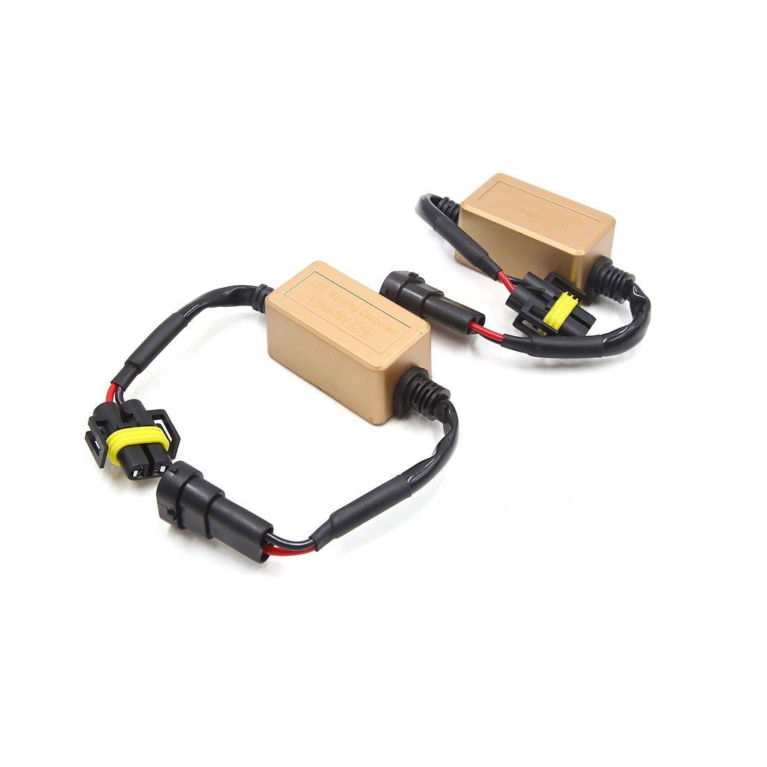 uxcell 2pcs 12V C16 H8 H9 H11 LED Canbus Error Anti-Flicker Resistor Decoder for Car