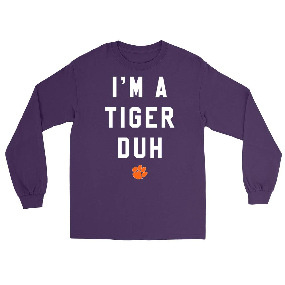Official NCAA Clemson Tigers H18CL Mens//Womens Boyfriend Long Sleeve Tee