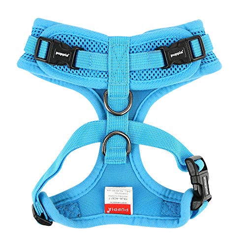 Picture of Authentic Puppia RiteFit Harness with Adjustable Neck, Sky Blue, Extra-Large