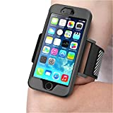 iPhone 6S Armband, SUPCASE Apple iPhone 6 Armband 4.7 Inch Sport Running Armband with Premium Flexible iPhone 6s/6 Case Combo (Black)