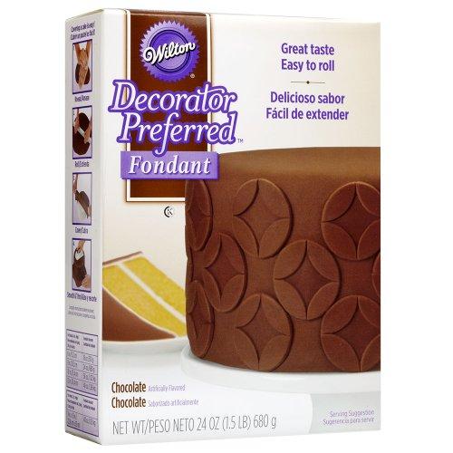 Chocolate Decorator (Wilton Decorator Preferred Chocolate Fondant, 24 oz. Fondant Icing)