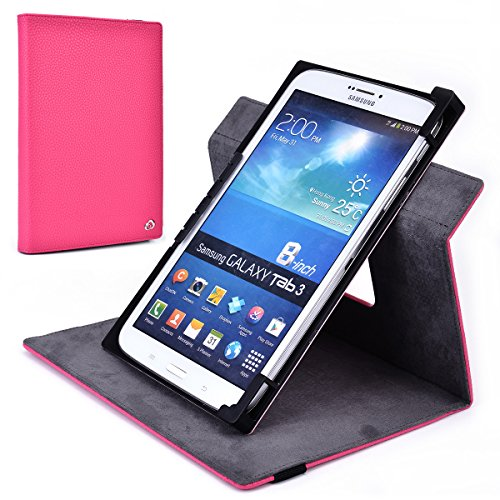 Fucshia Rotating Case Fits Pantech Element Tablet | Solid...