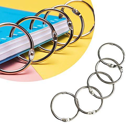 Juland Loose Leaf Rings 45 PCS Metal Scrapbooking Paper Photo Book Binding Rings Openable Key Chain Ring – 1.2 Inch (30mm) - Nickel -  HKT-JUL-021