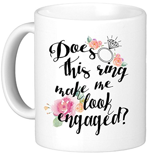 Oh, Susannah Does This Ring Make Me Look Engaged? 11oz Mug - White Gift Box