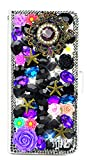STENES Galaxy Note 9 Case - Stylish - 3D Handmade Bling Crystal Rose Flowers Pretty Jewelry Magnetic Wallet Credit Card Slots Fold Stand Leather Cover for Samsung Galaxy Note 9 - Black