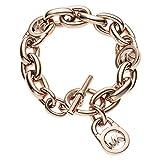 Michael Kors MK Logo Toggle Chain Link Bracelet in Rose Gold