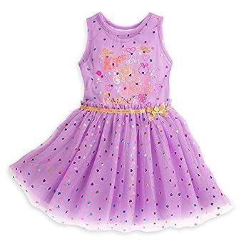 amazon com disney princess dress set for girls size 5 6 purple