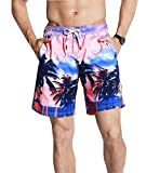 UB-GAILANG Mens Casual Leisure Beach Shorts Board Boxer Trunks Swimwear Swimsuits M