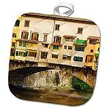 3dRose Danita Delimont - Cities - Shop windows and shutters, Ponte Vecchio, Florence, Tuscany, Italy - 8x8 Potholder (phl_277636_1)