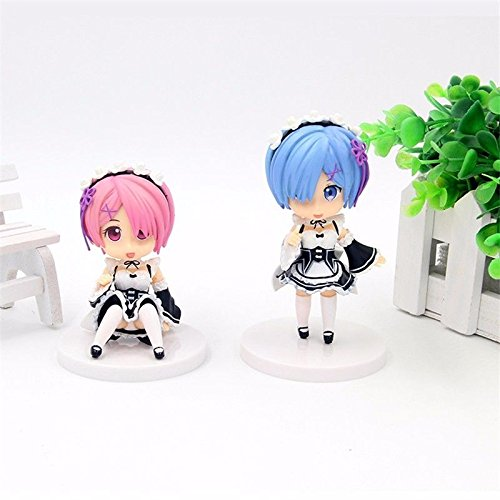 Anime Re:Zero kara Hajimeru Isekai Seikatsu Ram&Rem 2pcs PVC Figure Set No Box