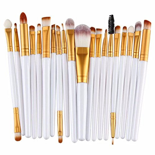 Susenstone®20 pcs/set Makeup Brush Set (White 1)