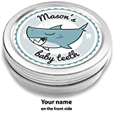 Doctors Baby Teeth Box | Shark Henri, Blue | Personalized with Name | for Girls and Boys | Gift for School Enrollment or Baby Shower