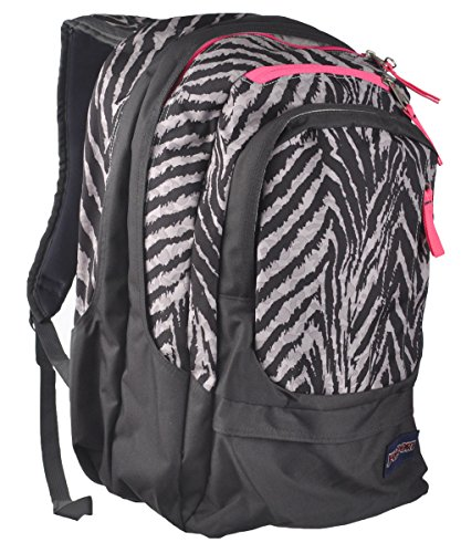 JanSport Air Cure Backpack – Grey Tar Wild At Heart 18H x 13W x 12D