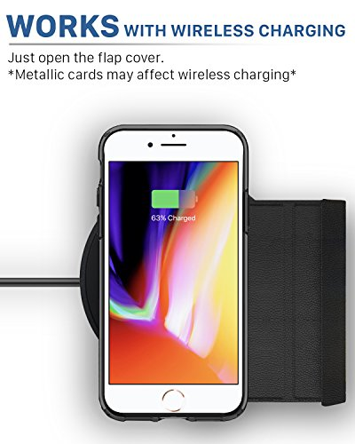 iPhone 8 Wallet Case, iPhone 7 Wallet Case, Vena [vCommute][Military Grade Drop Protection] Flip Leather Cover Card Slot Holder with KickStand for Apple iPhone 8 / iPhone 7 (Rose Gold/Black) by Vena (Image #5)