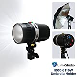 LimoStudio 160 Watt Digital Strobe Flash Light & Umbrella Reflector Holder