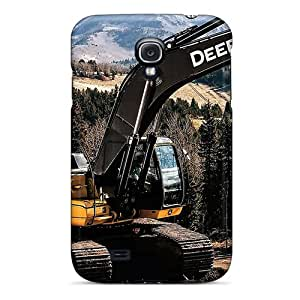 Samsung Galaxy S4 BWG19852XqtC Provide Private Custom Nice John Deere 350g Excavator Image Scratch Resistant Hard Phone Covers -Marycase88