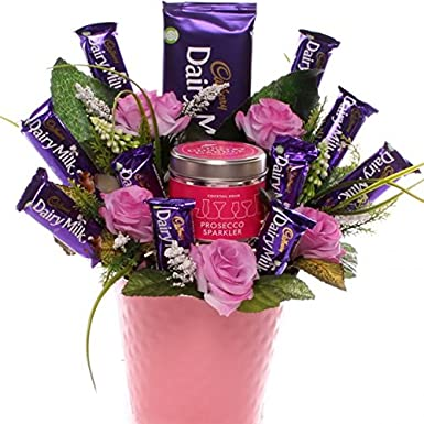 Chocolate Bouquet With Prosecco Sparkler And Cadbury Chocolate Bars