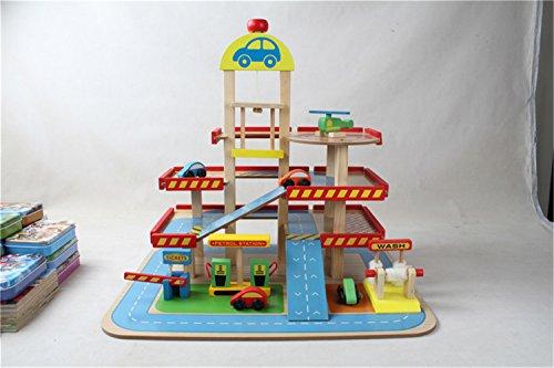 Zhenyu Wooden Baby Toys Bigスタイルシミュレーション木製駐車場ベビー教育玩具ベビーギフトの商品画像