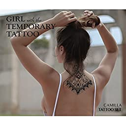 Girl with the Temporary Tattoo Camilla Tattoo Set - Midnight Black