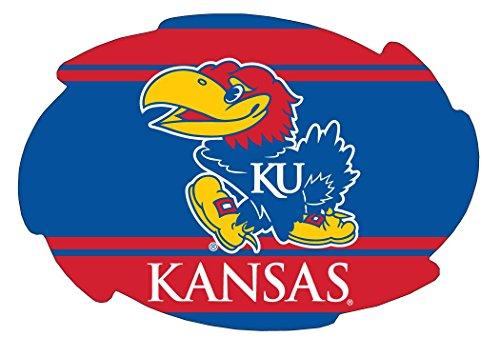 KANSAS JAYHAWKS STRIPE DESIGN SWIRL DECAL-KANSAS STICKER-NEW FOR 2016 - Kansas Jayhawks Ncaa Stripes
