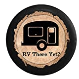 Firewood Series - RV There Yet? Travel Trailer Camper Spare Tire Cover Black 26-27.5 in