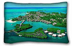 Custom Nature Custom Cotton & Polyester Soft Rectangle Pillow Case Cover 20x30 inches (One Side) suitable for Queen-bed