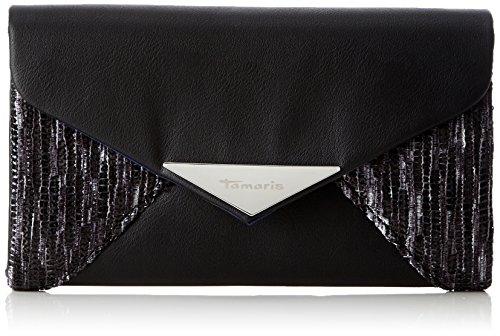 Tamaris Fernanda Clutch Bag - Pochette da giorno Donna, Grau (Graphite Comb), 3x11.5x19 cm (B x H T)