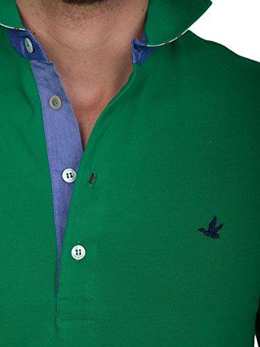 Polo Uomo Brooksfield 54 Verde 201g.b004 Primavera Estate 2017