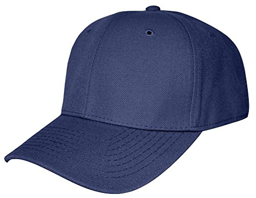 Blank Fitted Curved Hat (More Colors Available), 7 5/8, Navy