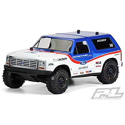 ProLine 342300 1981 Ford Bronco Clear Body for Pro-2Sc, Slash 4X4 and SC10 (Requires Extended Body Mount Kit): Toys & Games
