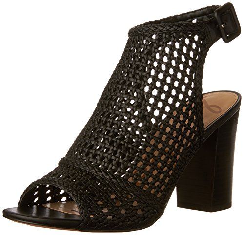 Edelman Sandals Fashion Women's Black Evie Sam ZHnqd7IZ
