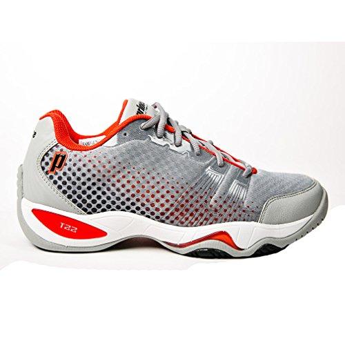 - Prince T22 Lite Men's Tennis Shoes (Gray/Black/Red) (11.5 D(M) US)