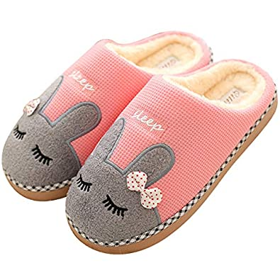 d827ee3091d LQZ Women Warm Winter Slippers Anti-Skid House Indoor Outdoor Slip On  Shoes  Buy Online at Low Prices in India - Amazon.in