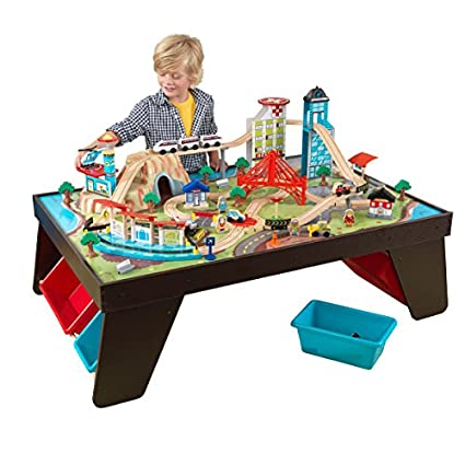 KidKraft Aero City Train Set u0026 Table  sc 1 st  Amazon.com : train set and table - pezcame.com