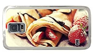 Hipster Samsung Galaxy S5 Case discount Pancakes Strawberries PC Transparent for Samsung S5