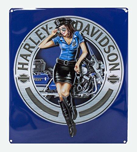 (Ande Rooney Harley Davidson Police Babe Sign)