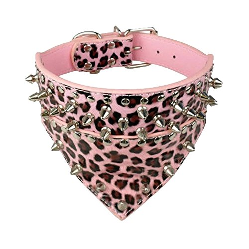 (Hpapadks Large Dog Triangle Rivet pet Collar,pet Leather Rivet Spiked Studded Pet Puppy Dog Collar Neck Strap Large Dog)