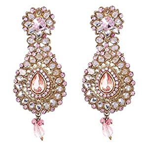 Mela Kundan Ethnic Earring, Push Closure