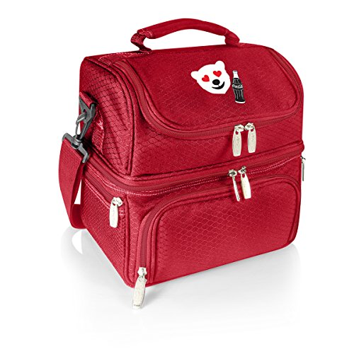 (Picnic Time Coca-Cola 'Pranzo' Lunch Tote, Red with Emoji Design)