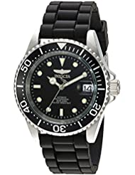 Invicta Mens Pro Diver Automatic Stainless Steel Casual Watch, Color:Black (Model: 23678)