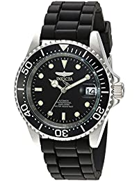 Men's 'Pro Diver' Automatic Stainless Steel Casual Watch, Color:Black (Model: 23678)