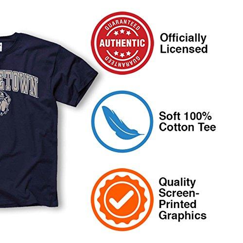 Navy, Campus Colors Georgetown Hoyas Arch /& Logo Gameday Crewneck Sweatshirt