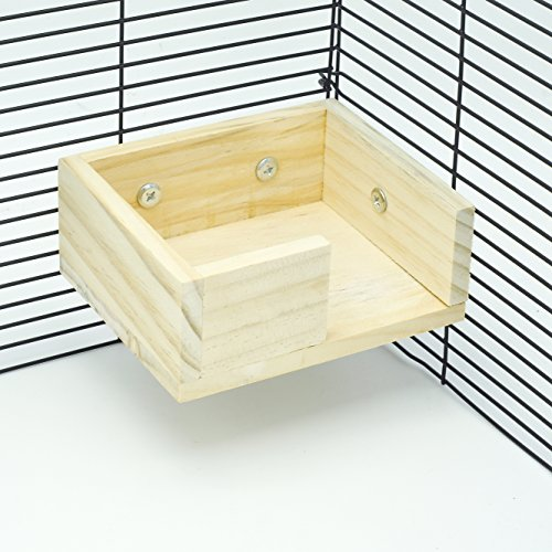 Image of Niteangel Wooden Hamster Mouse Small Animals Lookout Platform