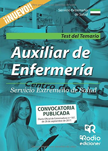 Auxiliar de Enfermeria. Servicio Extremeño de Salud. Test del Temario (Spanish Edition) [Varios autores] (Tapa Blanda)