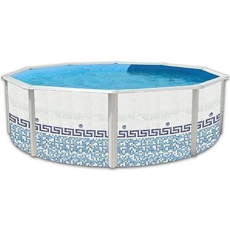 TOI - Piscina MOSAICO CIRCULAR 640x120 cm Filtro 6 m³/h.: Amazon.es: Juguetes y juegos