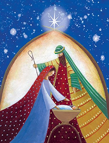 Christmas Card Nativity Scene (Design Design Majestic Nativity Scene Boxed Christmas Cards (191-76699))
