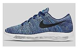 Nike Lunarepic Low Flyknit Dk Purple Dust/Black/Star Blue/Bluecap 843765-501 (SIZE: 7)
