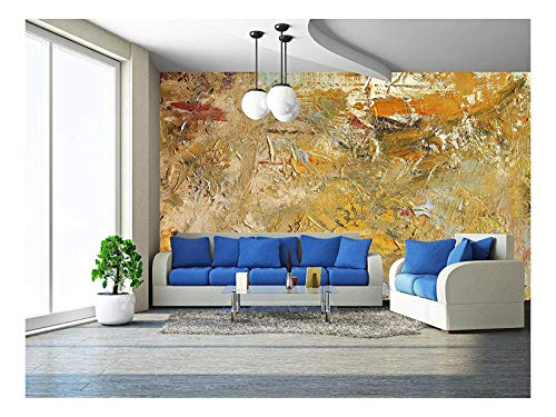 wall26 - Oil Paints and acrylics on Canvas - Removable Wall Mural | Self-Adhesive Large Wallpaper - 66x96 ()